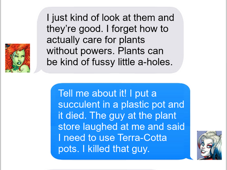 Texts From Superheroes: Pot Exchange