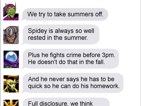 Texts From Superheroes: Sinister Six of Summer