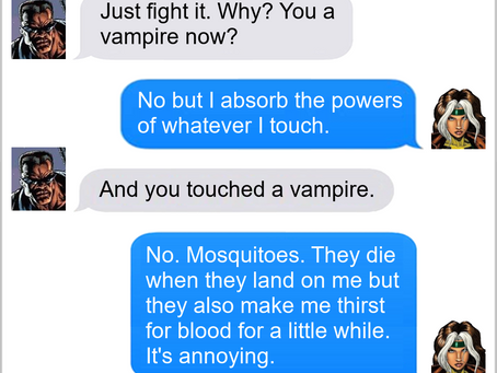 Texts From Superheroes: Just a Quick Bite