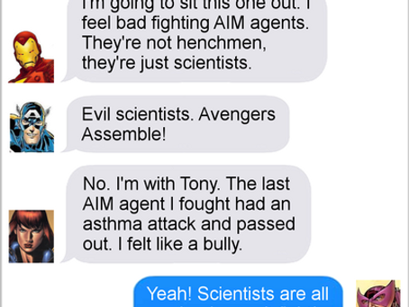 Texts From Superheroes: Nerds