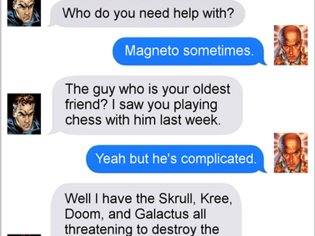 Texts From Superheroes: Lend A Helping X-Man