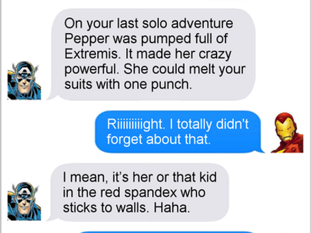 Texts From Superheroes: Team Captains