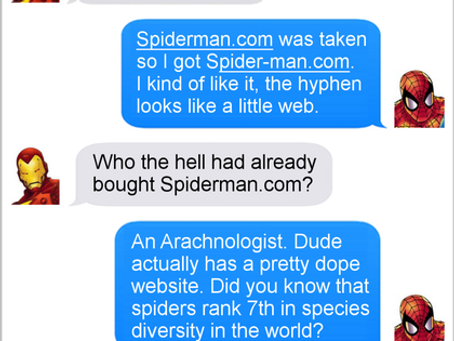 Texts From Superheroes: Hyphenated