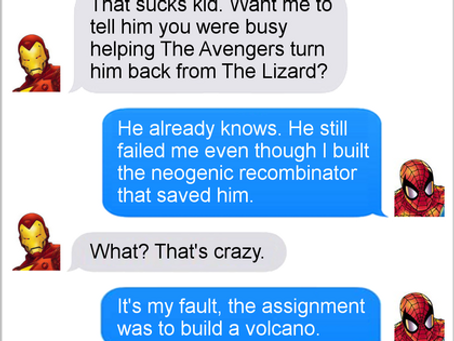 Texts From Superheroes: Bite Out of Grades