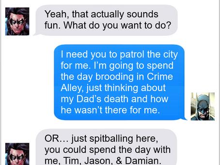 Texts From Superheroes: World's Best Bat