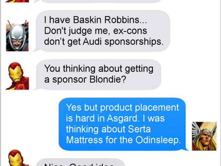 Texts From Superheroes: Sponsorship