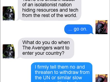 Texts From Superheroes: Politics