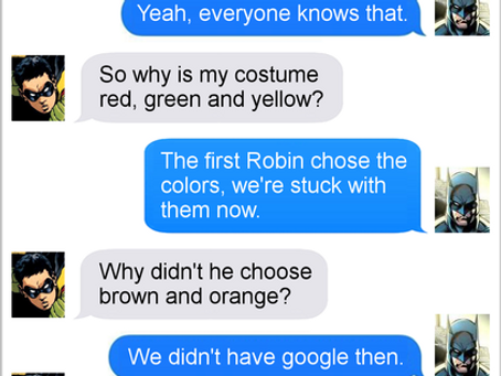 Texts From Superheroes: Fashion Faux Pas