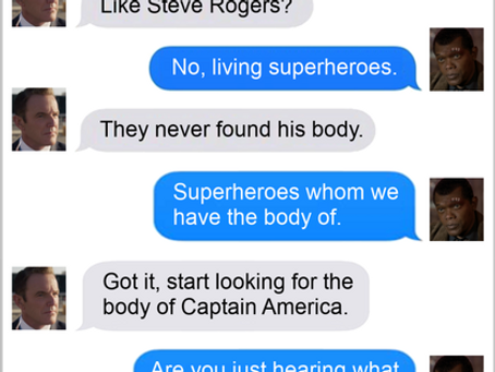 Texts From Superheroes: Man On A Mission