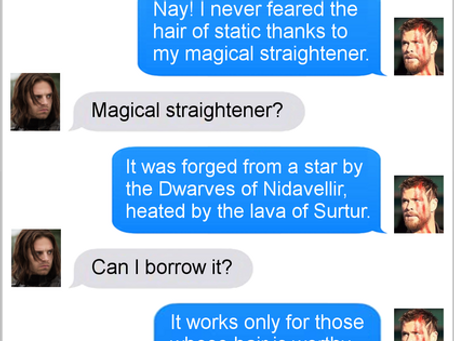 Texts From Superheroes: Bucky With The Good Hair