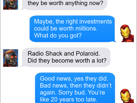Texts From Superheroes: Anything For A Buck