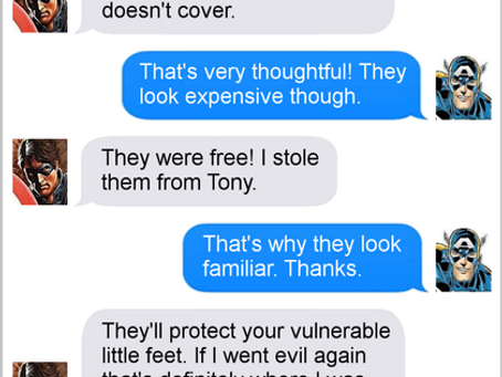 Texts From Superheroes: Give Him The Boot