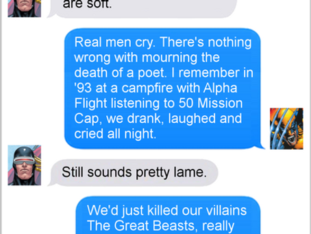 Texts From Superheroes: Straight From The Hip