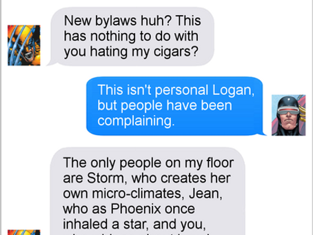 Texts From Superheroes: Take It Outside