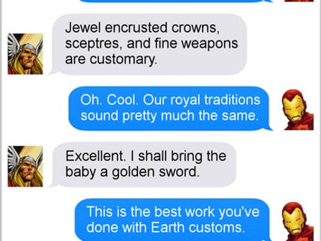 Texts From Superheroes: Royally Screwed