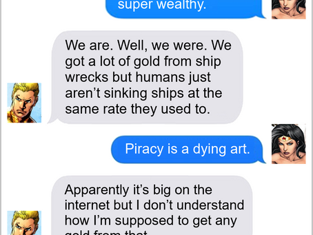 Texts From Superheroes: Drowning In Money