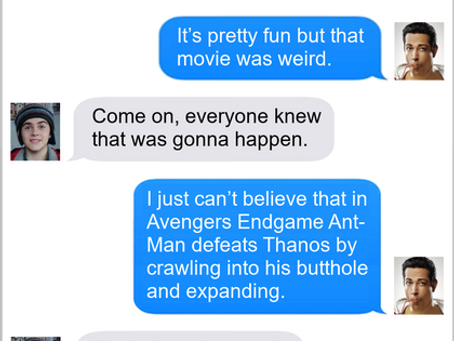 Texts From Superheroes: What A Twist (No Shazam Spoilers)