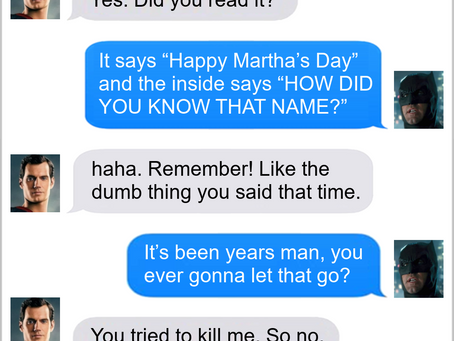 Texts From Superheroes: Traditions Never Die