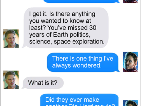 Texts From Superheroes: Childhood Heroes