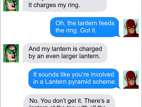 Texts From Superheroes: Green Pyramid