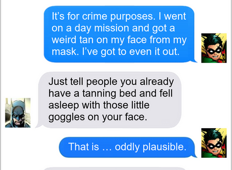 Texts From Superheroes: Master Of Disguise