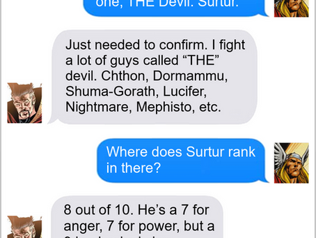 Texts From Superheroes: The Devil Went Down To Asgard