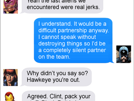 Texts From Superheroes: Team Switch