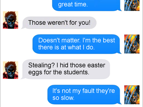 Texts From Superheroes: Best of Easter