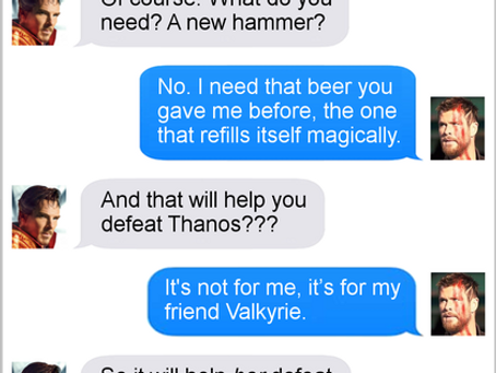 Texts From Superheroes: I'll Drink To That