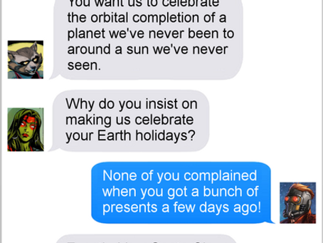 Texts From Superheroes: Jerk Family Traditions
