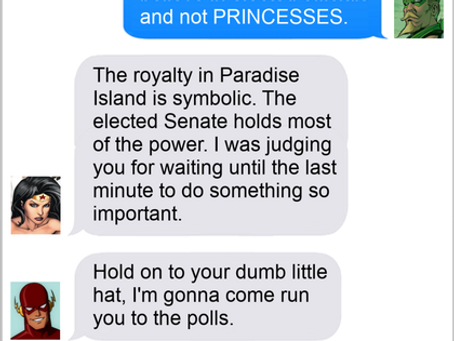 Texts From Superheroes: Vote