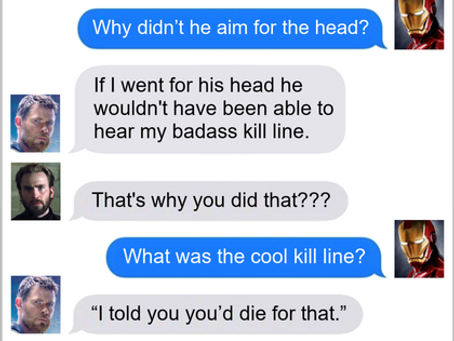 Texts From Superheroes: Get Your Head In The Game