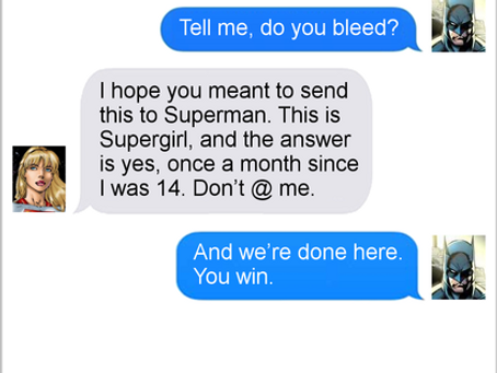 Texts From Superheroes: Bleed