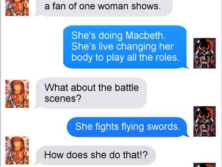 Texts From Superheroes: Support The Arts