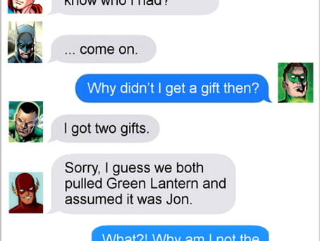 Texts From Superheroes: All I Want For Christmas