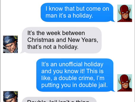 Texts From Superheroes: Punishment Fits The Crime