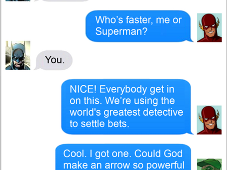 Texts From Superheroes: Settled