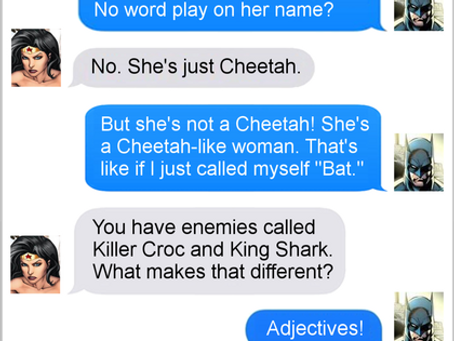 Texts From Superheroes: Name Game
