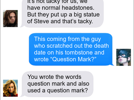 Texts From Superheroes: Grave Dangers