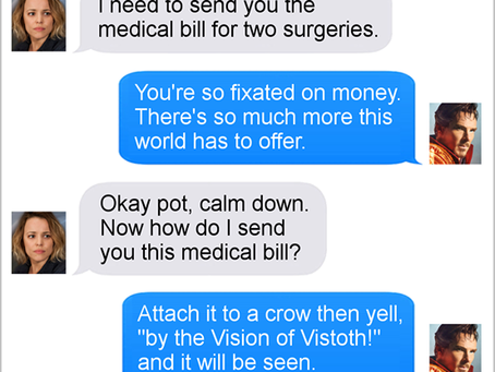 Texts From Superheroes: I've Come To Bargain