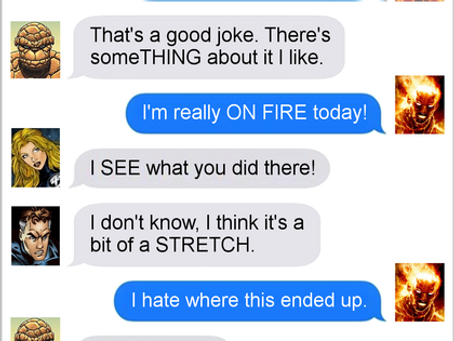 Texts From Superheroes: Fantastic 4th of July
