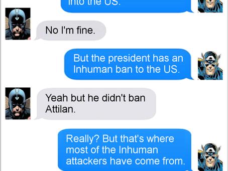 Texts From Superheroes: Inhuman behaviour.