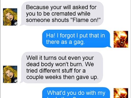 Texts From Superheroes: Standing Dead