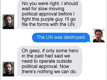 Texts From Superheroes: Civil Infinity War