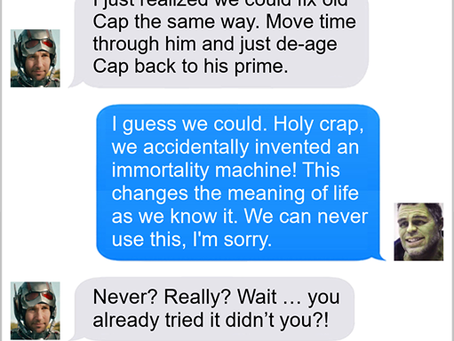 Texts From Superheroes: The Man With Lots of Time