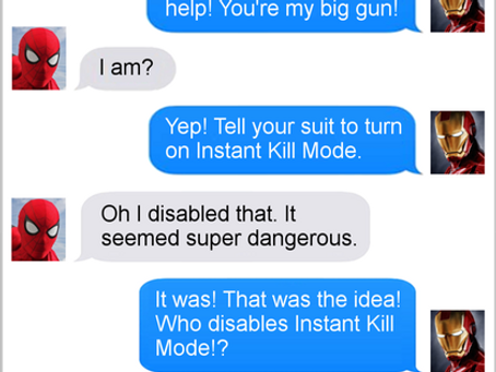 Texts From Superheroes: Let's Get Ready to Runnnnnnnn Away!