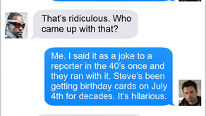 Texts From Superheroes: Birthday Surprise