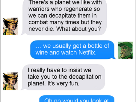 Texts From Superheroes: Double Date