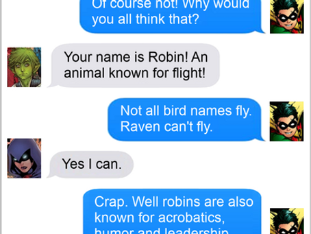 Texts From Superheroes: Learn to Fly