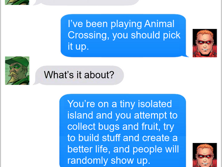 Texts From Superheroes: Hobbies